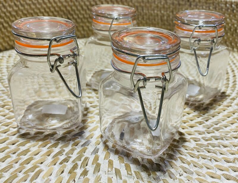 Small Mason Jar With Hinged Lid 4 Ounce