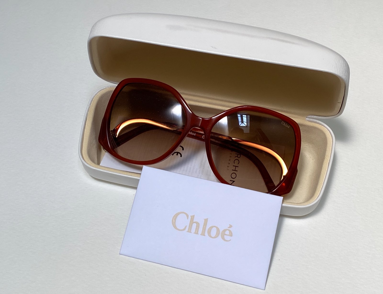 CHLOE CE675S 223 Brown Sunglasses Gradient 140mm Oversized NEW OLD STOCK