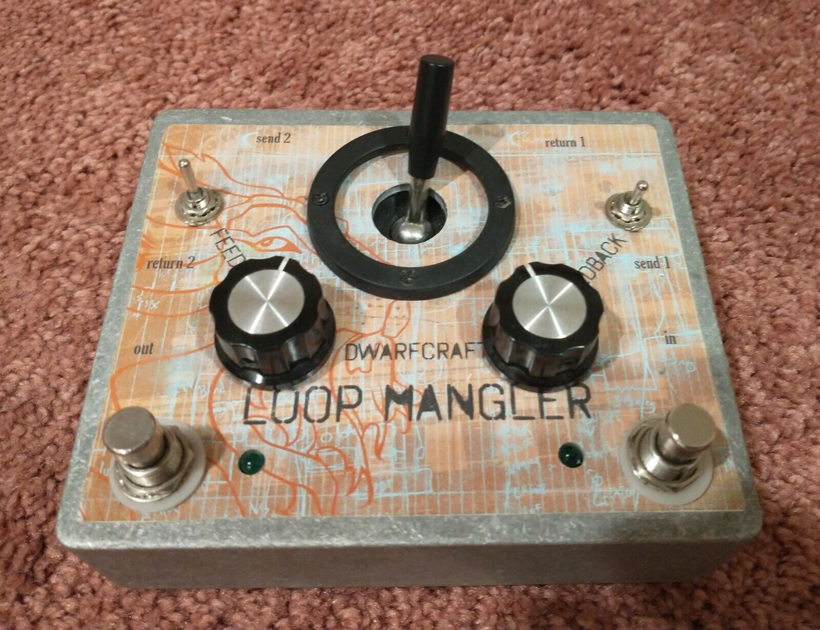 DWARFCRAFT DEVICES RARE LOOP MANGLER - AC - Double Fdback Looper Free Ship - $179.00