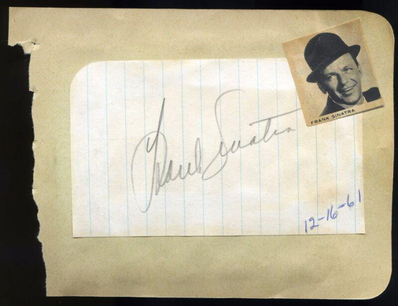 FRANK SINATRA signed cut/album page 1961 autograph + James Garner 1964 signature