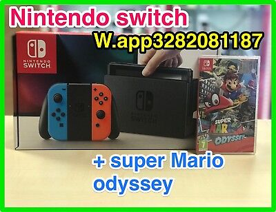 CONSOLE NINTENDO SWITCH RED BLUE BI COLOR NUOVA + GIOCO SUPER MARIO ODYSSEY
