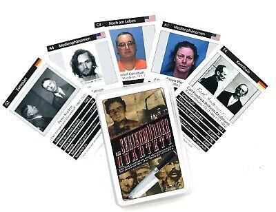 Quartett Spiel - Serienmörder - Serialkiller - Kartenspiel - Halloween - Selten