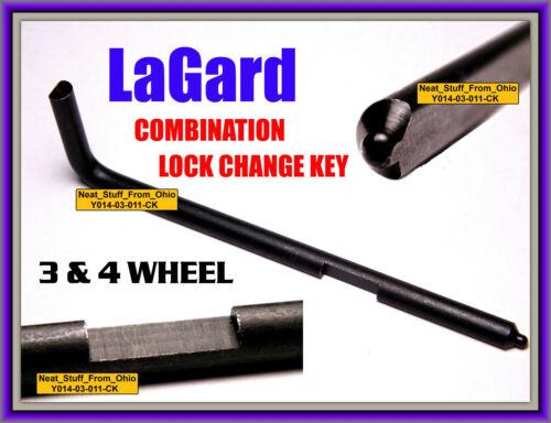 LA GARD / LAGARD CHANGE KEY (FOR 3 & 4 WHEEL COMBINATION LOCKS) LG1307 & LG1315