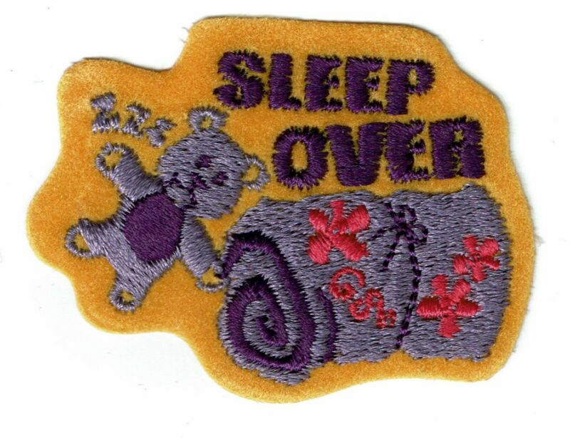 Girl Scout Girl Guide Fun Patch - Sleepover