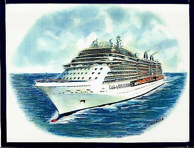 Original Art Work  Celebrity Reflection  Celebrity Cruises   Cruise Ship