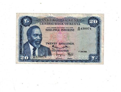 Kenya 1968 20 Shillings P3.c  PB1