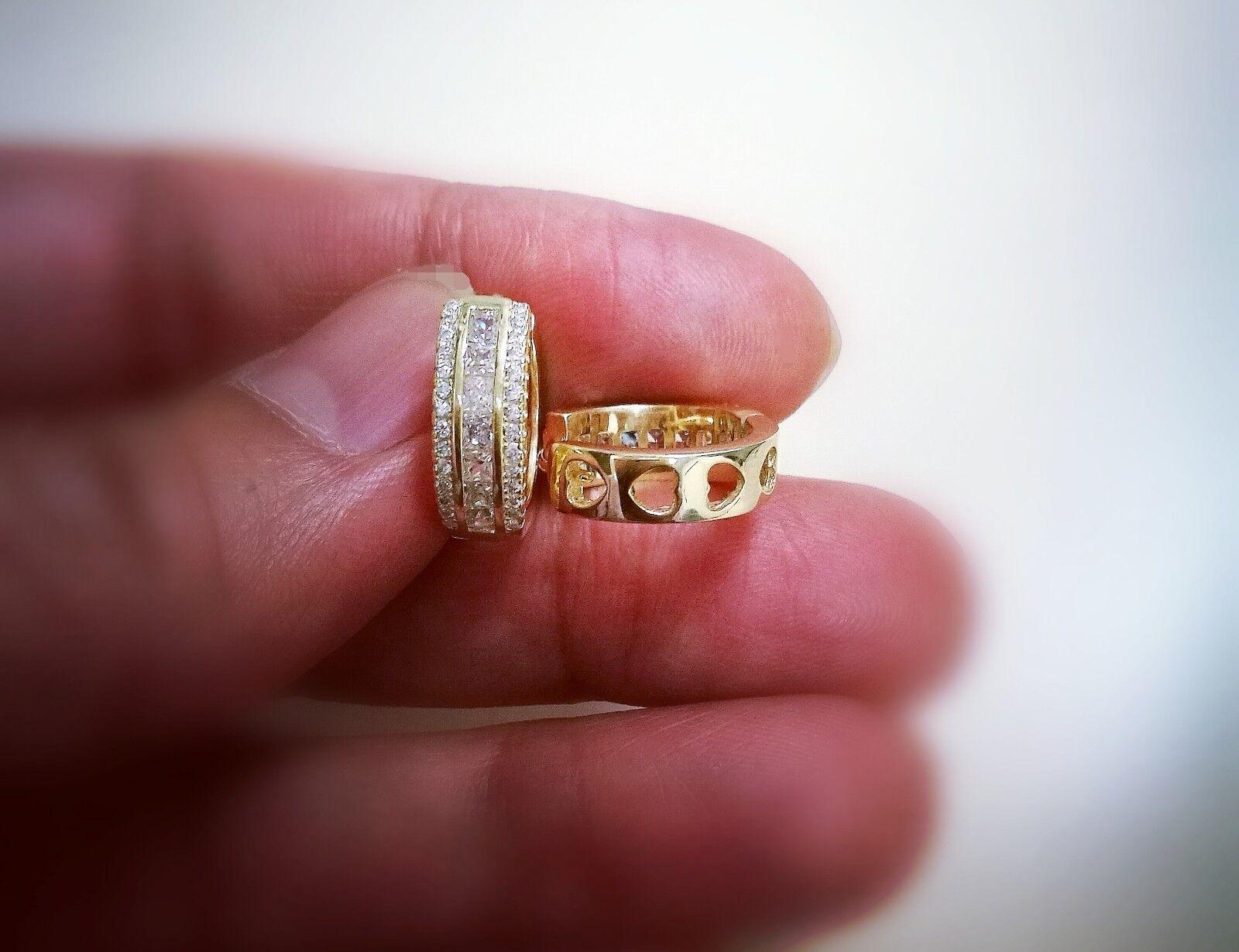 1 Ct Diamond Hoop Earrings Women Hoop Earrings 14K White Yellow Gold over 6