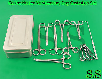 Canine Neuter Kit Veterinary Dog Castration Surgery Kit Professional Ds-1105