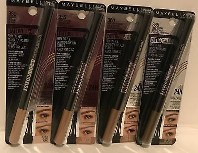 Maybelline Tattoo Studio Brow Tint Pen ~ Choose From 4 Shades ~ - Cards Tattoo