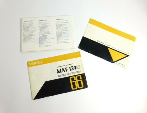 Yashica MAT-124G TRL Came Instruction Booklet Manual