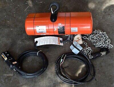 Cm Columbus Mckinnon Corporation 12 Ton Electric Chain Hoist 2755nhcf
