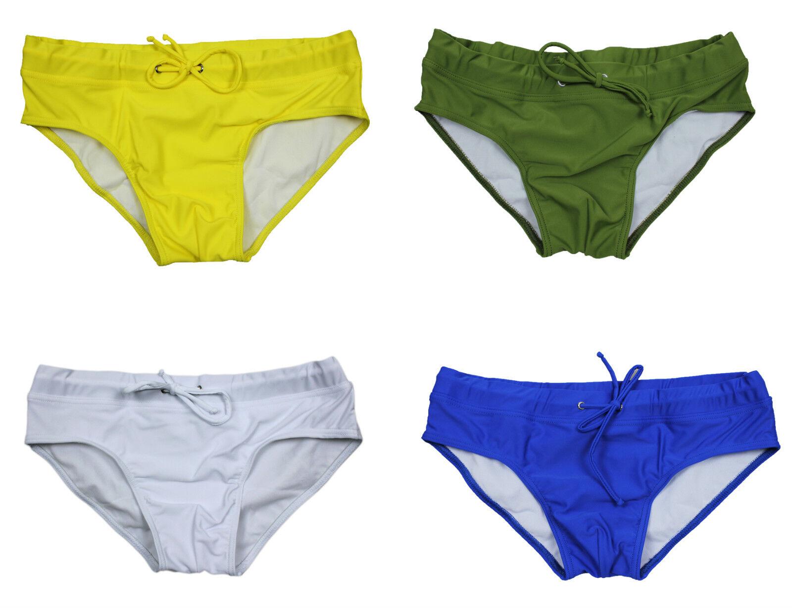 costume mare uomo slip mutanda fluo giallo verde bianco blu 100 made in italy