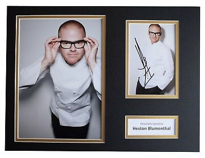 Heston Blumenthal Signed autograph 16x12 photo display TV Chef COA
