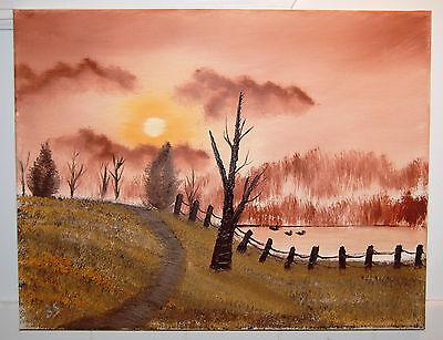 Golden Pond Duck (Original Oil Painting