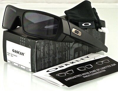 New Oakley Gascan Sunglasses Matte Black L Grey 03 473