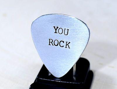 You rock guitar pick in aluminum