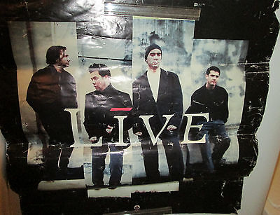 LIVE SECRET POSTER ROCK 1997 RECORD STORE  PROMO COLLECTABLE DISPLAY VINTAGE