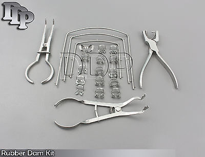 Rubber Dam Kit Of 21 Pcs. Clamps Of Your Choice Dental Orthodontic Instruments