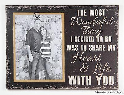 Black love Picture Frame SHARE MY HEART & LIFE handmade wedding photo gift  (Live Photo Frame)