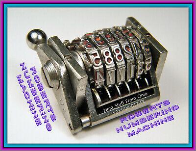 Roberts Rotary Convex Numbering Machine - Original American-made Model 56