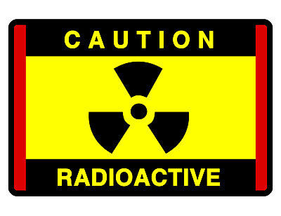 Caution Radioactive Sign Custom Metal Sign Durable Aluminum No Rust Sign Rd277
