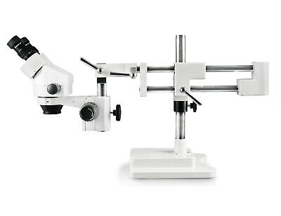 Parco 7x-45x Binocular Zoom Stereo Microscope10x Eyepieces Dual Arm Boom Stand