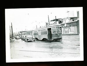 Vintage-B-W-Photo-Brill-Trolley-8480-Flushing-Ave-Metropolitan-NY-c1948