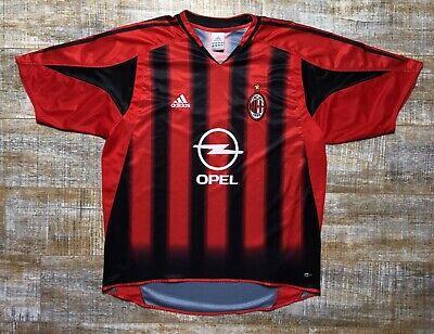 AC Milan ACM Opel Adidas Soccer Futbol Jersey Home OPEL Size XL