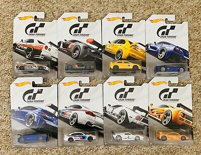 NEW HOT WHEELS 3+ GRAN TURISMO THE REAL DRIVING SIMULATOR LOT OF 8 2017
