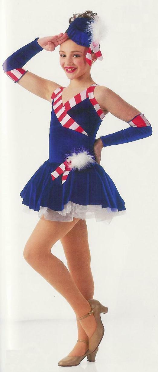 Child Small Tutu Ballet Dance Costume 4th July Patriotic STRIKE UP THE BAND