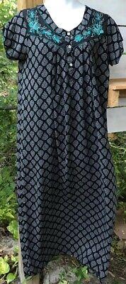 Scoop Neck Nursing Nightgown (Jinal Maternity/Hospital/Nursing Labor XL Mom Breast-Feeding Gown Mumu Teal)