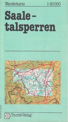Wanderkarte SAALETALSPERREN  1:50 000 1977 DDR Tourist Verlag