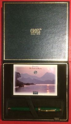 CROSS JADE FOUNTAIN PEN JADE 18K GOLD FINE  POINT NEW IN BOX VERY RARE BEAUTY