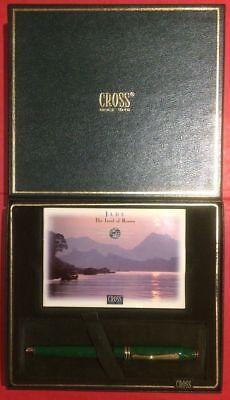 Cross Jade Fountain Pen Jade 18Kt Gold Fine Pt New In Box Rare Beauty