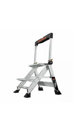 Little Giant Jumbo Step Folding 2 Step Ladder 375lb Capacity Model 11902