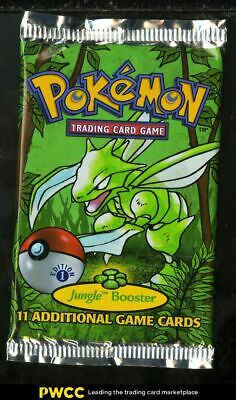 1999 Pokemon Jungle 1st Edition Factory Sealed Booster Pack, Scyther Art