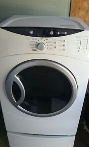 GE Front-load Electric Dryer with pedestal