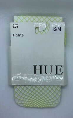 Green Fishnet Tights (NWT HUE Large Fishnet Tights Lime Juice size S / M fits 120-170 lbs Lime)