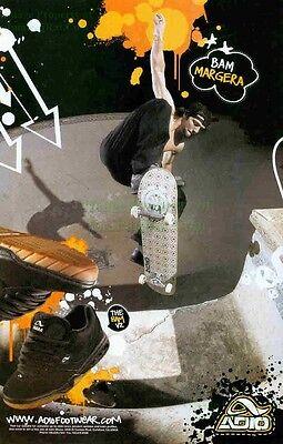 Adio Footwear: Bam Margera (Brandon Cole): Skateboard: Great Photo Print Ad!