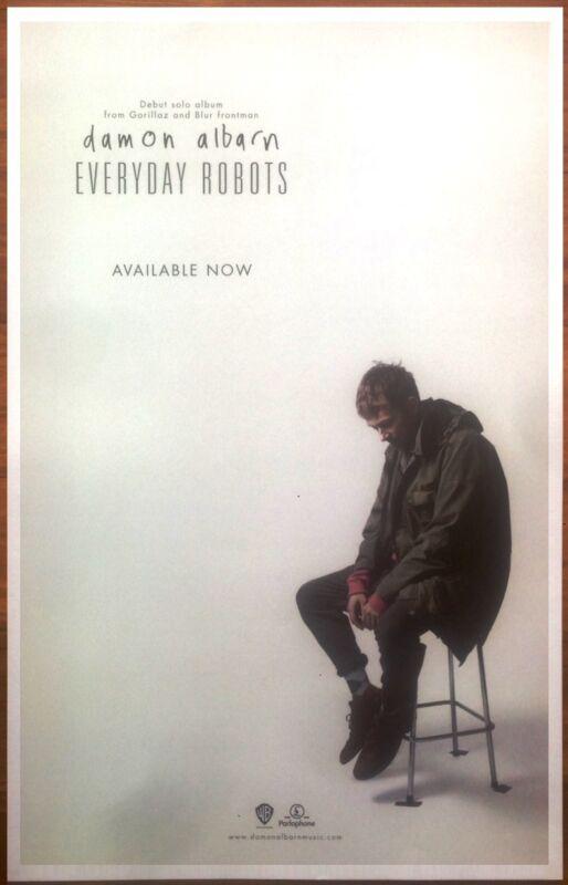 DAMON ALBARN Everyday Robots Ltd Ed Discontinued RARE New Poster! GORILLAZ BLUR