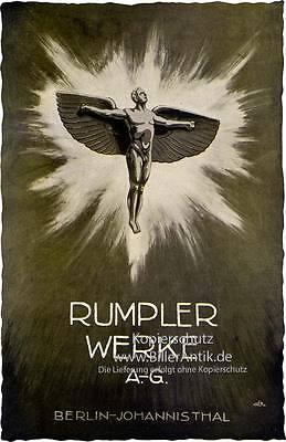 Rumpler Werke AG Berlin Taube Flugzeugwerke 4A13 Plakat Braunbeck Motor A2 081