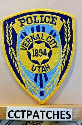 VERNAL CITY, UTAH POLICE SHOULDER PATCH UT