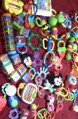 38 pc.  Baby Toy LOT Educational Toddler toys - Teething Rattle, Blocks -Daycare