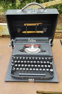 ERIKA Schreibmaschine alt  Reiseschreibmaschine im  Koffer