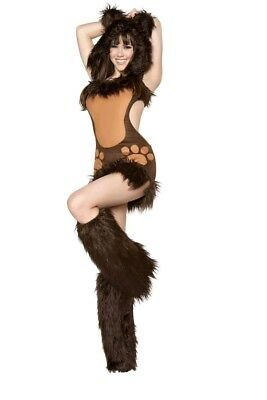 Raver Costumes (Bear Costume Adult Sexy Halloween Fancy Dress Cosplay Raver Small)