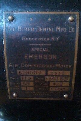 Antique ritter model A dental compressor