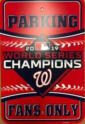 Washington Nationals World Series Champions 12x18 Parking Sign FREE SHIP!