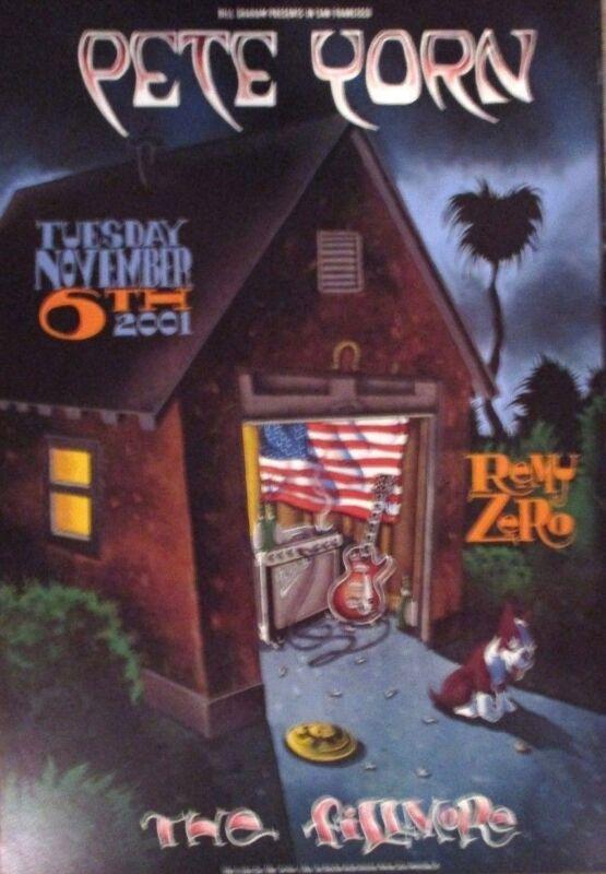 PETE YORN (LIVE) FILLMORE POSTER F498 Original Bill Graham REMY ZERO Shea