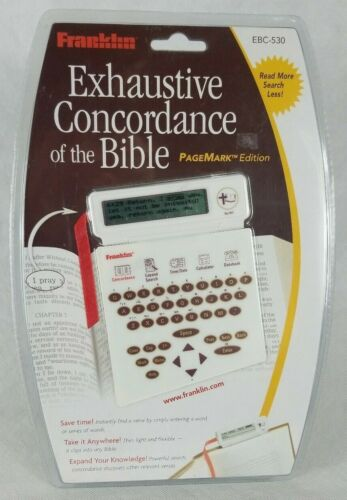 Franklin Concordance of the Bible PageMark Edition EBC-530 Sealed