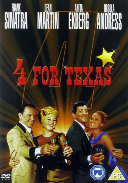 4 FOR TEXAS [1963] Frank Sinatra/Dean Martin/Ursula Andress New/Sealed DVD R2